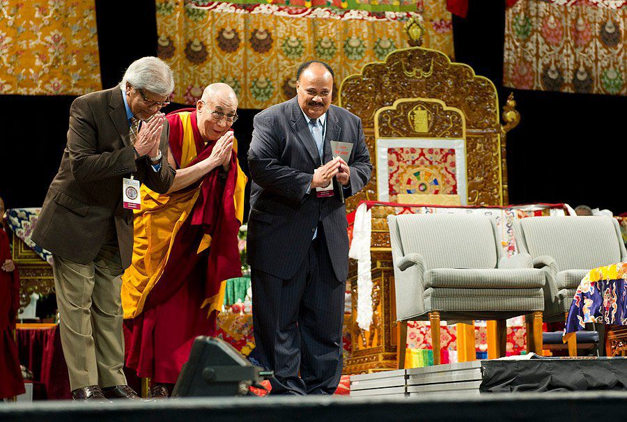 Arun Gandhi with His Holiness the Dalai Lama & Martin Luther King III