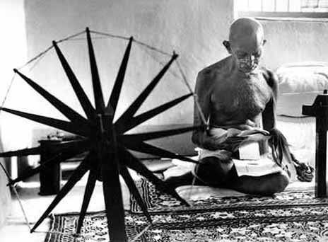 Mahatma Gandhi is noted as the father of nonviolence.